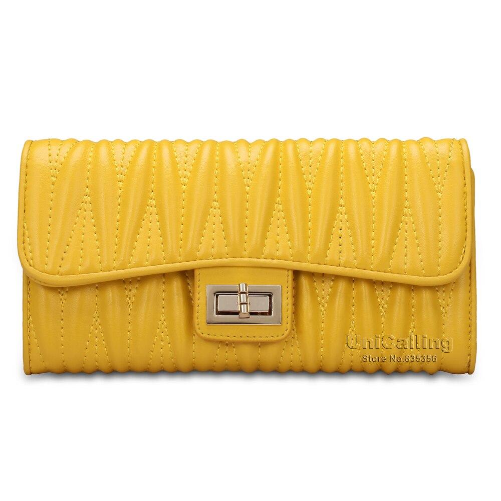 Luxury sheepskin font b women b font clutch font b wallet b font high end sheepskin