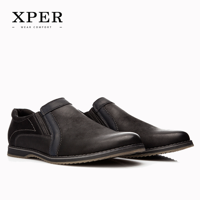 XPER Brands Fashion Luxury Men Flats Shoes Slip-on Mocassins Men Loafers Blue Big Size YM86811BU