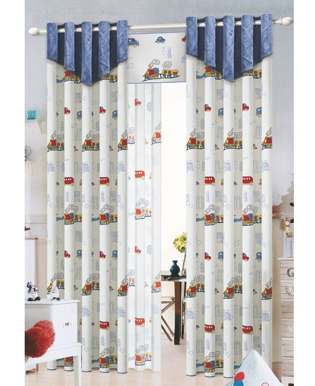 Buy car print blackout baby infant - Childrens bedroom blackout curtains ...