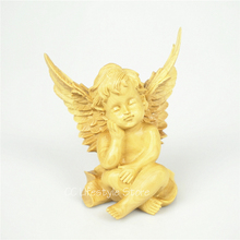 Здесь можно купить  1pc wooden angel figure wing statue Cupid Jesus Statue decoracion Amor Love Cupid Angel character wood carving home decoration  Home Decor