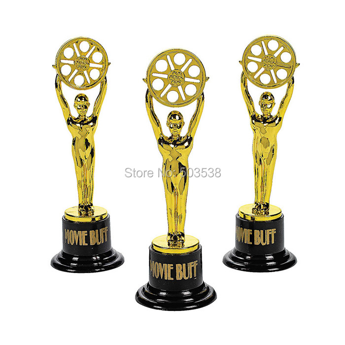 12PCS/LOT.Plastic gold cup trophy,Kids sports medal.Winner medal.Educational props reward,Creative gift prizes toys for children