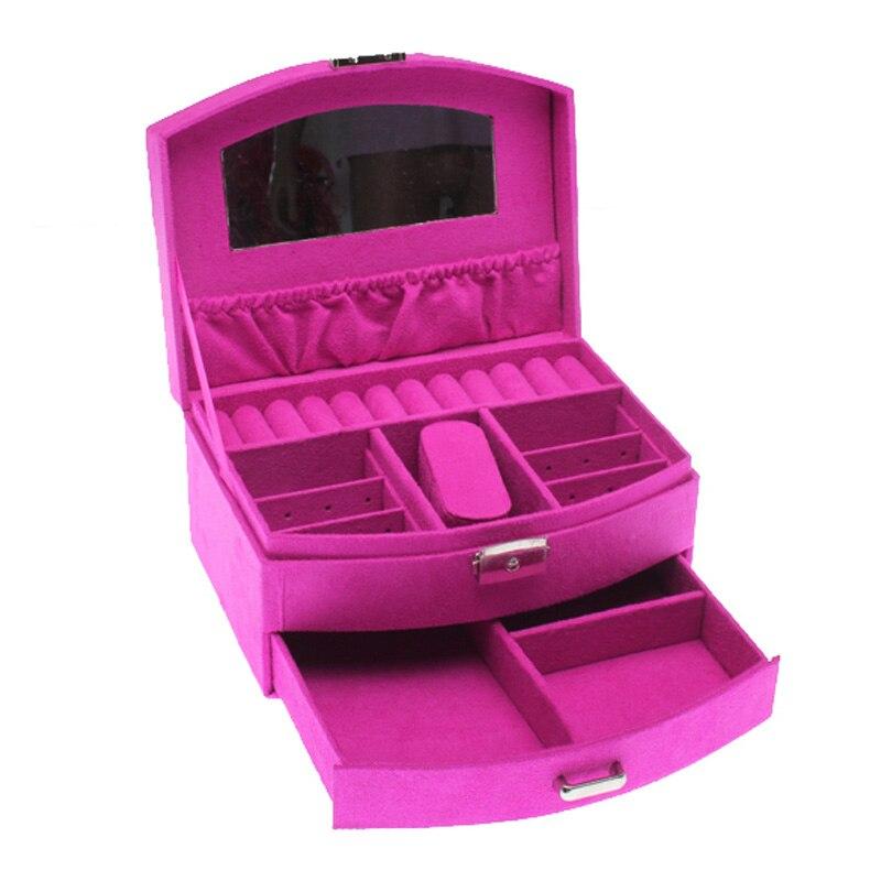 Jewelry box Two tier jewelry organizer Storage Cases Wedding gift