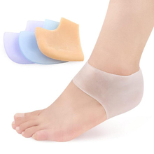 feet care socks 2PCS New Silicone Moisturizing Gel Heel Socks with hole Cracked Foot Skin Care Protectors skin care for dry hard cracked skin moisturising spa gel silicone socks rejuvenation foot mask softex