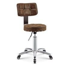 Регулируемый стул тележка парикмахерская барбершоп мебель для салона красоты стул для салона красоты парикмахерское оборудование кресло парикмахера тележка для парикмахера