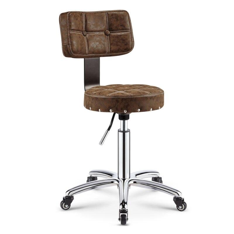 Mobilya'ten Bar Tabureleri'de 2019 ayarlanabilir berber koltuğu hidrolik fırdöndü tabure sandalye Salon Spa Bar cafe dövme yüz masaj salonu mobilya