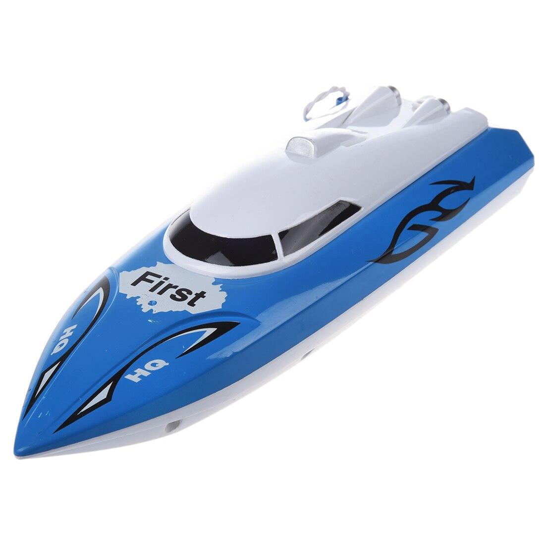 10 inch Mini RC Boat Radio Remote Control RTR Electric Dual Motor Toy Colour:Blue happy cow 777 218 remote control mini rc racing boat model