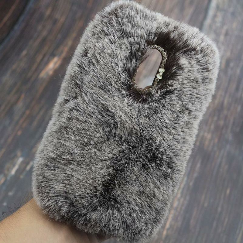 Image 4 - Fluffy Case for LG Q7 Q6 G7 G6 G5 G4 V30 V20 Stylo 4 3 3D Cute Plush Fur TPU Diamond Jewelled Soft Phnoe Back Case Cover-in Half-wrapped Cases from Cellphones & Telecommunications