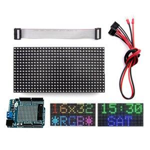 Image 1 - Elecrow 16x32 RGB LED Matrix Panel for Arduino Driver RTC Chip DIY Kit RGB Connector Shield Module Graphic LED RGB Matrix Panel