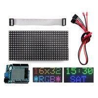 Elecrow 16x 32 RGB LED Matrix Panel For Arduino Driver Shield DIY Kit Free Shipping