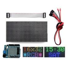 לelecrow 16x32 RGB LED מטריקס פנל עבור Arduino נהג RTC שבב DIY ערכת RGB מחבר חומת מודול גרפי LED RGB מטריקס פנל