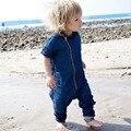 Novas calças de Brim da Roupa Do Bebê Rompers Recém-nascidos Body Suit Roupa Dos Miúdos Das Meninas Dos Meninos do Algodão Macacão Romper Do Bebê do Algodão Roupa Infantil