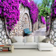 3D Wallpaper Purple Wall Trail