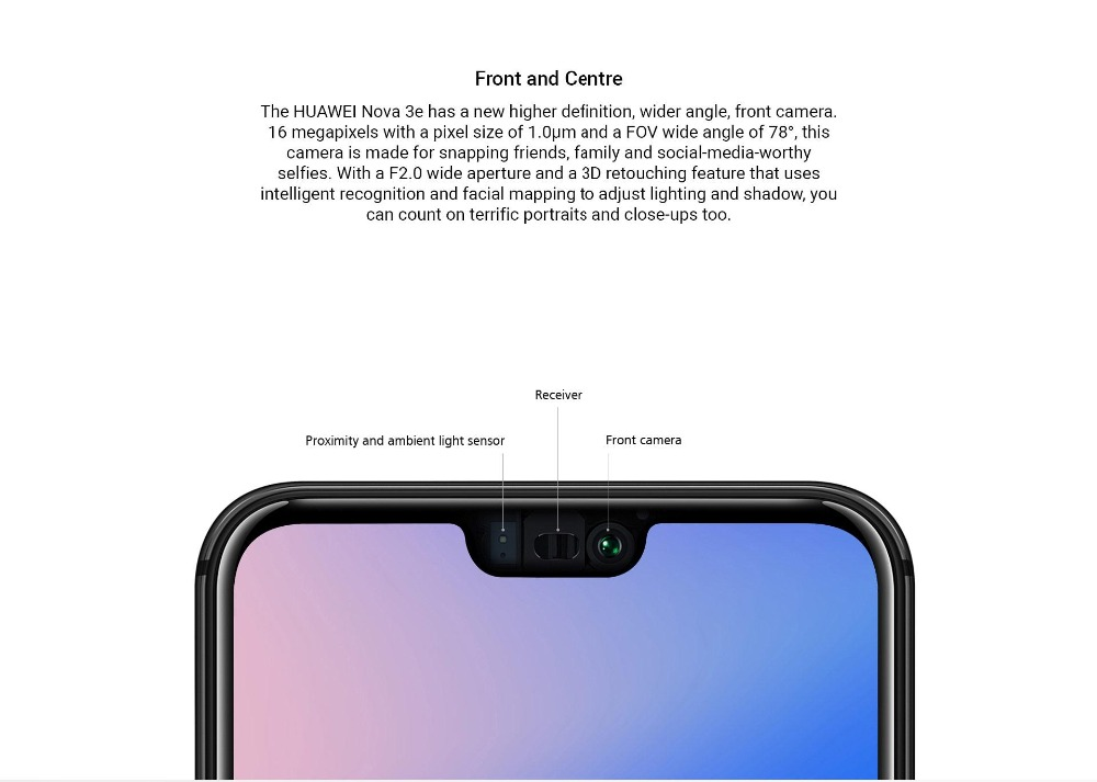 HTB1Rgy.msyYBuNkSnfoq6AWgVXao - Huawei P20 Lite Nova 3E Global Firmware 4G LTE Mobilephone Face ID 5.84
