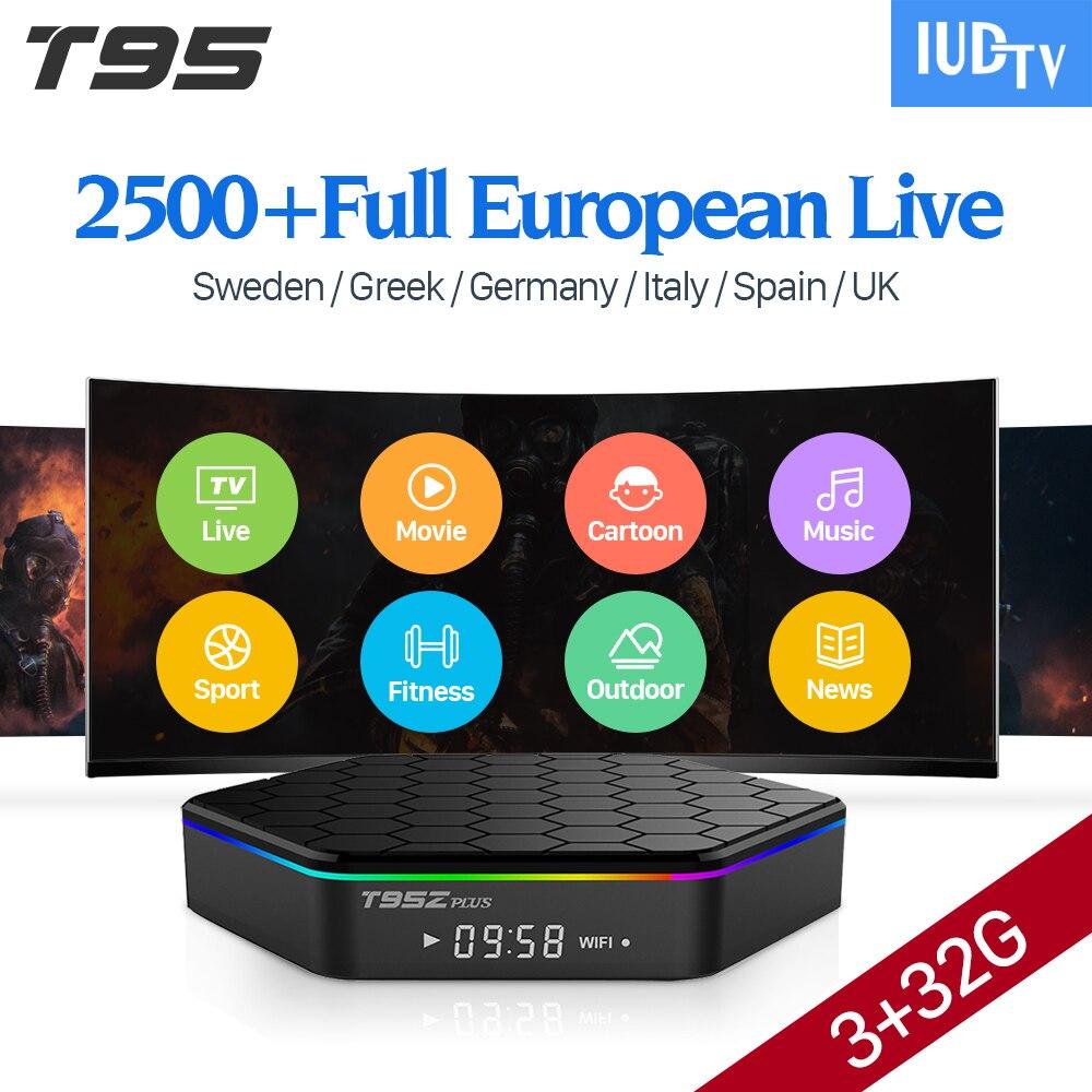 [Genuine] T95Z Plus 32GB Android 7.1 TV Box IPTV 1 Year IUDTV Subscription IPTV Europe Swedish French Spanish Arabic IP TV Box
