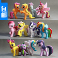 12 unids/set Princesa Celestia Luna Crepúsculo Chispa Rainbow Dash Mascotas de Dibujos Animados Caballo Unicornio Juguetes Figuras de Acción