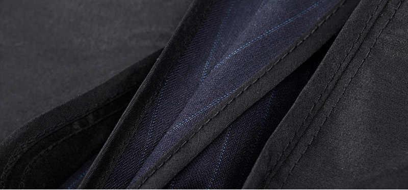 Mogu縦ストライプ男性のスーツ2017新しいファッションツーピースフォーマルメンズスリムフィット高品質アジアサイズ4xl男性スーツ