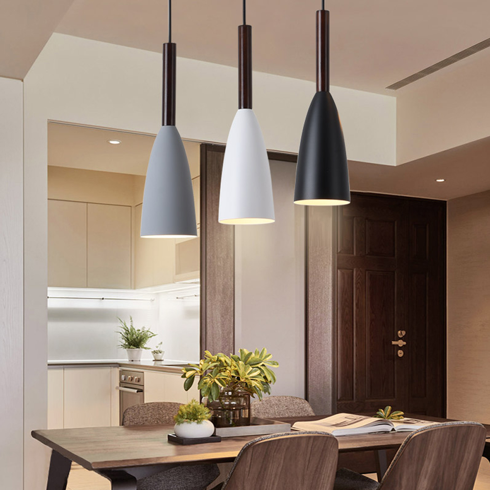 US $31.38 40% OFF|Modern House Decoration Lighting Lamp Restaurant Bar  Coffee 3 pcs Rectangle / Round Set fixture Gray Black White metal  lighting-in ...