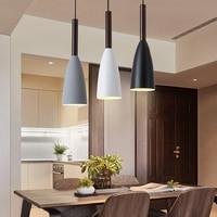 Modern House Decoration Lighting Lamp Restaurant Bar Coffee 3 pcs Rectangle / Round Set fixture Gray Black White metal lighting