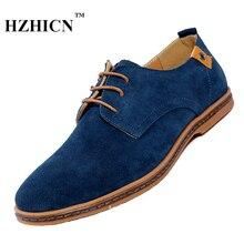 Splite Cuero De Vaca, Además de Zapatos de Tamaño de los hombres Oxfords Casual Hombre Zapatos Planos de La Manera Caliente de Alta Calidad Suave y Cómodo venta