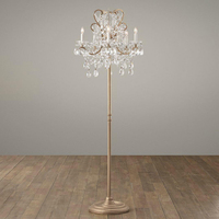 Replica item Manor court lustre crystal 4 5 arm floor lamp vintage white aged pewter aged gold