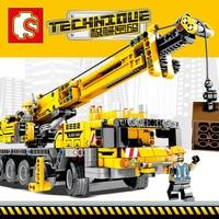 Technic Engineering Lifting Crane Building Blocks Compatible Legoingly Technic Truck Construction Brick Toys For Children