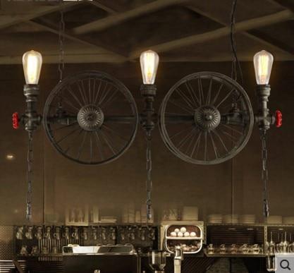 Retro Loft Style Vitnage Industrial Lighting Pendant Lights Fixtures Edison Water Pipe Lamp Hanglamp Suspenison Luminaire america retro loft industrial pendant lamp fixtures edison lamparas vintage hanglamp suspenison luminaire