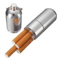 Portable Mini Cigarette Case Aluminum alloy Cigarette Case With Keychain Storage Boxes/Bins For Cigarette Drug Pills