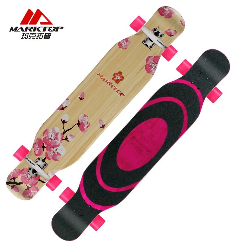 Érable canadien complet patin de route Longboard Deck pour adulte jeunesse planche à roulettes descente rue danse longue planche professionnelle - 2