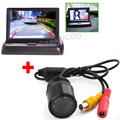 Авто Парктроник 10 ИК Огни Автомобилей Заднего Вида Обратный Парковка Камера Для 4.3 Дюймов Автомобиля TFT LCD Складной Монитор