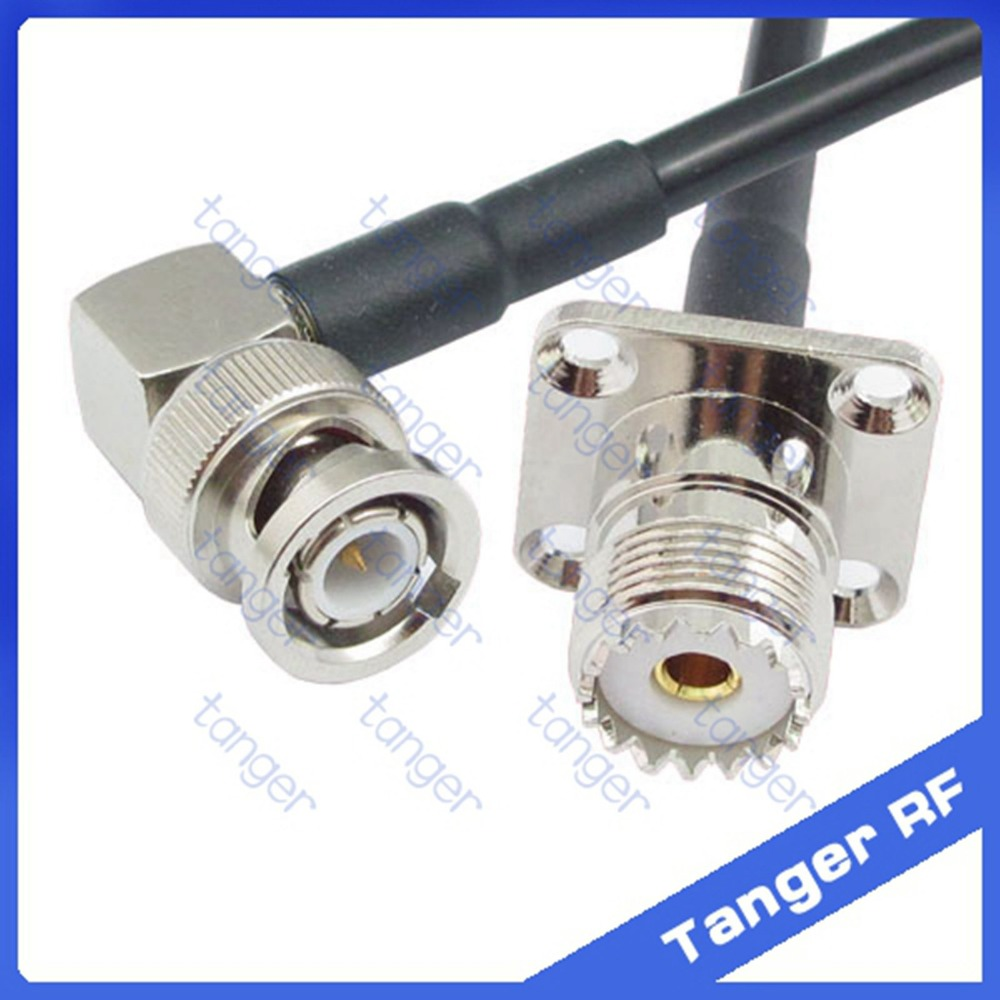 Hot Selling BNC male plug right angle to UHF female jack SO239 4four hole panel RF RG58 Pigtail Jumper Coaxial Cable 20inch 50cm игрушка paw patrol маленькая фигурка щенка