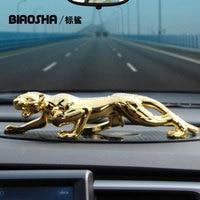 Biaosha Car styling High Quality Car Decoration Alloy Leopard Interior Toys Air freshener For Man Car Perfume Christmas Gift