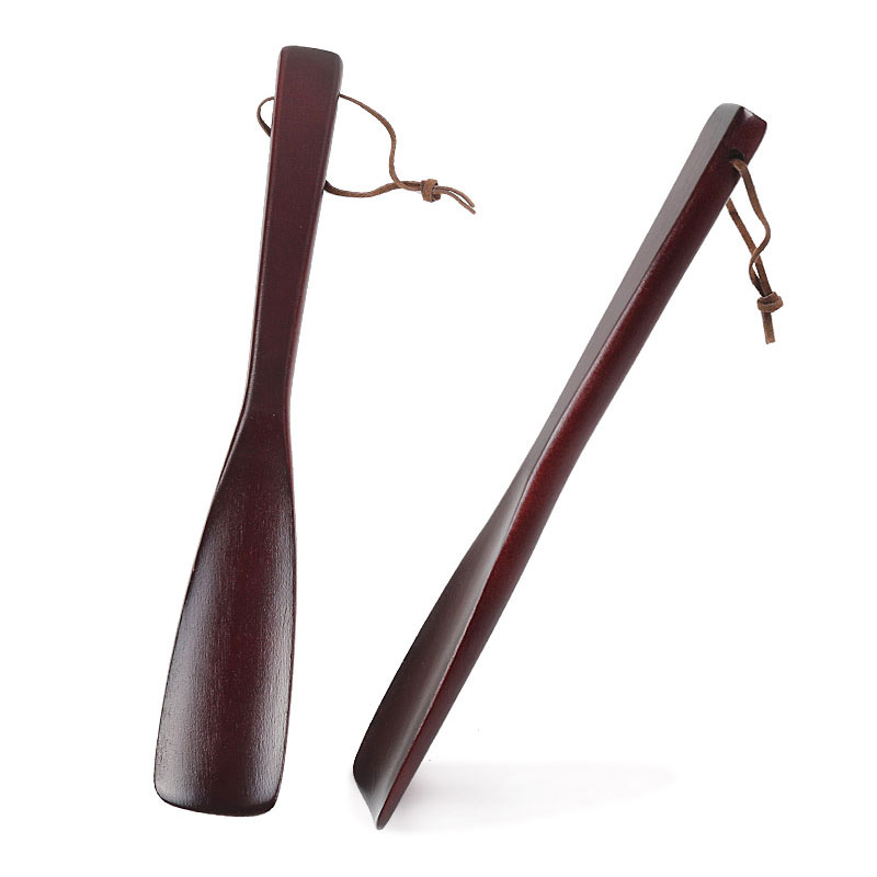 Us 251 45 Offtcare 25 54cm Ultra Long Wooden Craft Wenge Wooden Shoe Horn Professional Wooden Long Handle Shoe Horn Shoe Lifter In Braces