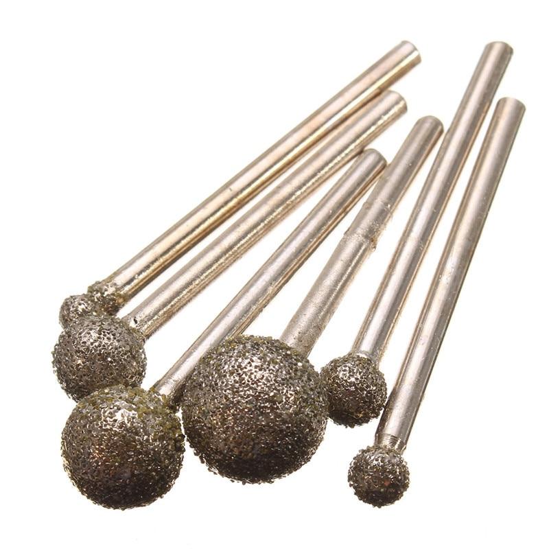Top Quality 6pcs/set Round Diamond Grinding Wheel for Dremel Rotary Tool Diamond tools for Granite Diamond Burs Accessories diamond tools for granite