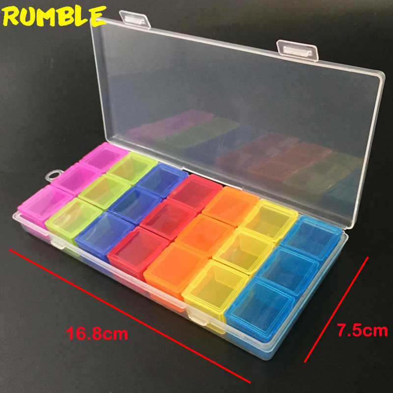 21 Grids DIY Tools Box Portable Practical Electronic Components Screw Storage Mini Jewelry Case Tool Case Independent Cover