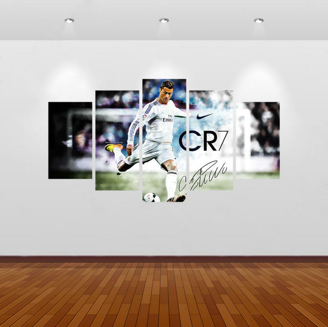 Aliexpress.com : Buy 5pcs Print Cristiano Ronaldo Painting home ...