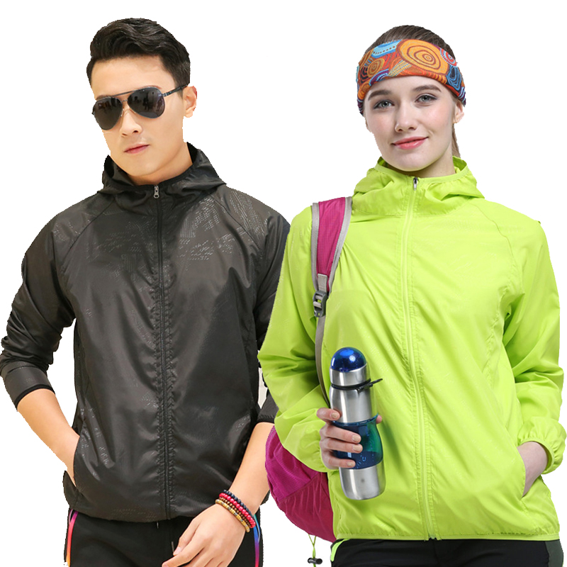 Men women UV Jacket summer Sunscreen softsell coat Skin Sun-protective Windbreaker men Outdoors Windpoof quick-drying jackets