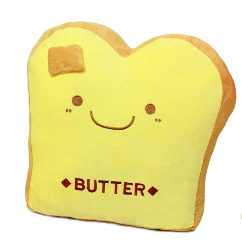 Yellow Pink 40cm Soft Cute Toast Plush <font><b>Cushion</b></font> Bread Stuffed Throw Pillow Back <font><b>Cushion</b></font> Sofa Car <font><b>Home</b></font> decoration Seat <font><b>Cushion</b></font>