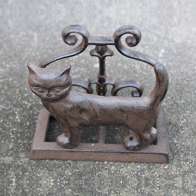 Business card holder cat cast iron desk accessory business name card business card holder cat cast iron desk accessory business name card stand case office organizer valentines colourmoves Choice Image