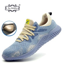 New exhibition Mens Work Safety Shoes 2019 Summer Outdoor Breathable Lightweight Anti-smash steel toe cap safety sneakers Boots