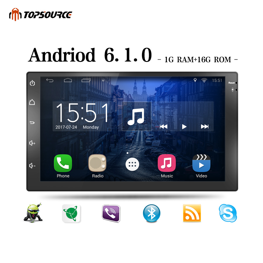 TOPSOURCE Universal 7 Car DVD Player WIFI Android GPS 2din Car Radio GPS NAVIGATION For VW Nissan TOYOTA Volkswagen Peugeot