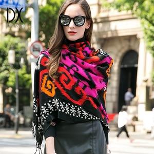 Image 3 - Bufanda de Cachemira de invierno, Bandana de lana de marca de lujo, manta a cuadros, bufanda cálida, bufanda a la moda y chal musulmán Hijab Foulard
