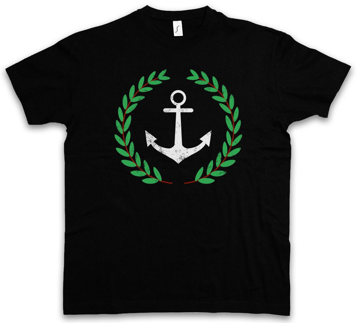 ANCHOR AND WREATH T-SHIRT Pablo TV Series Escobar Narcos Harajuku Tops Fashion Classic Unique t-Shirt gift free shipping