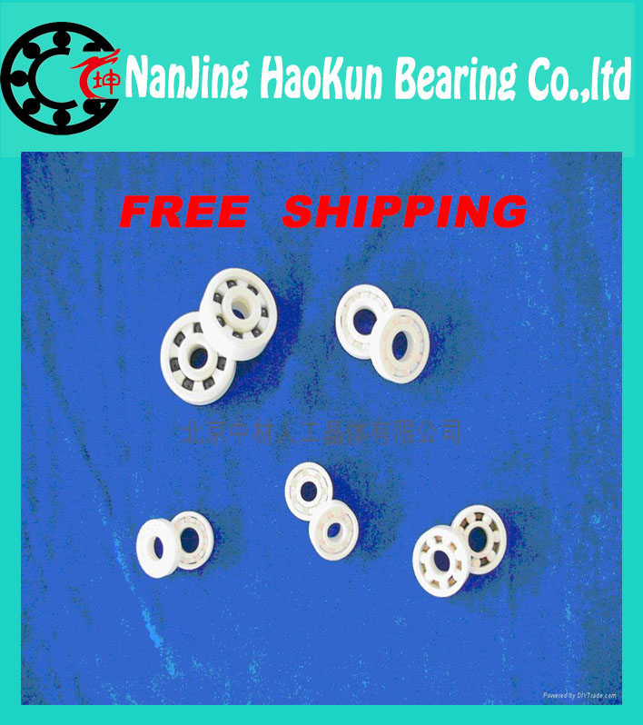 Free shipping 7017 7017CE ZrO2 full ceramic angular contact ball bearing 85x130x22mm