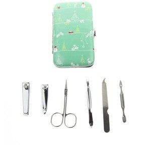 6Pcs/Set AliExpress Shipping Professional Manicura Manucure Manicure Sets Wholesale Include Nail Scissor Nail Clipper