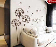 The wind dandelion wall stick to the sitting room TV wall restaurant decorative background of bedroom the head of a bed TY24