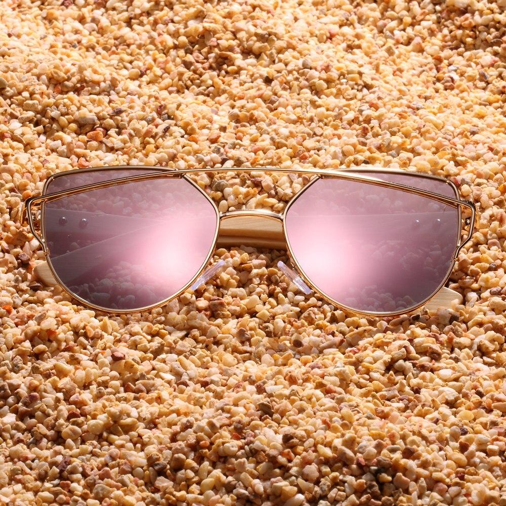 BARCUR Bamboo Cat Eye Lady Sunglasses 16