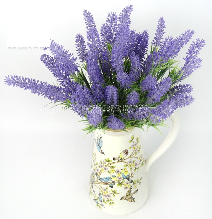 Artificial Provence Purple Lavender Fake Flower Flores Para Decora O For Home Wedding Bouquet Decoration