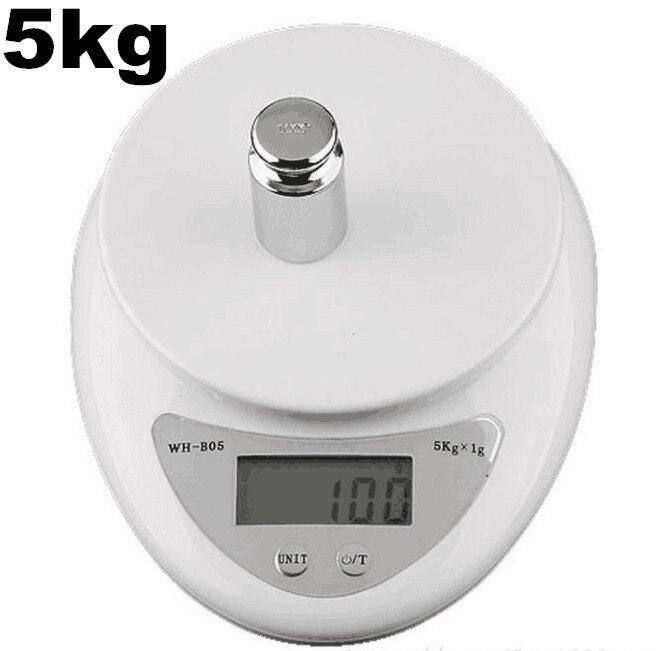 5000g 1g 5kg food diet kitchen digital weighing scale weight balance