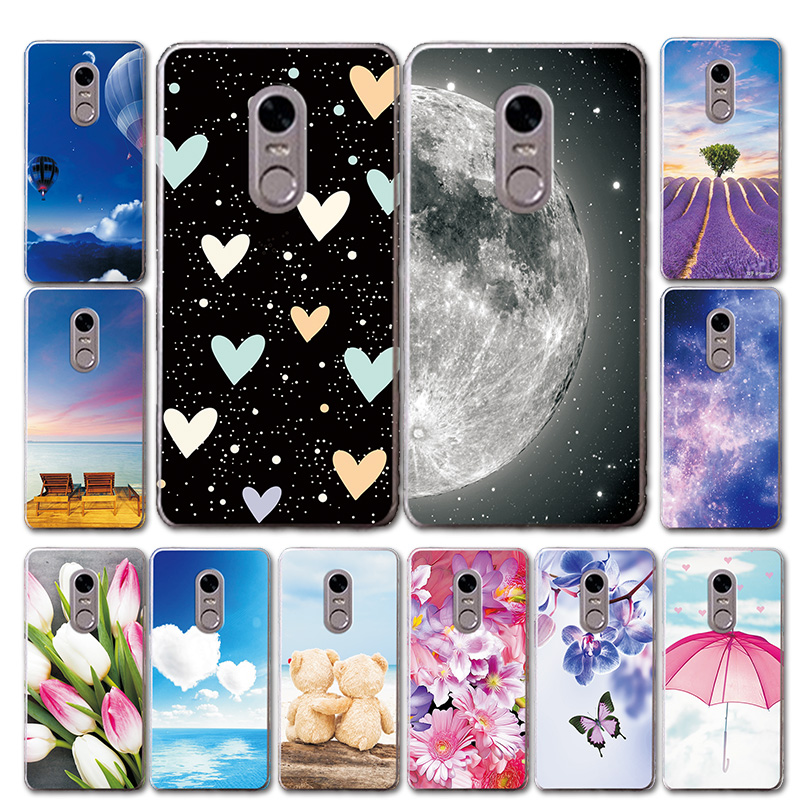 For TP-LINK Neffos X1 Lite TP904A TP904C Silicone Phone Case Cover Moon Style Love Heart Case For Neffos X1 Lite 5.0''Shell Bags