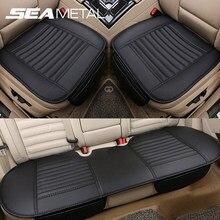Housses de siège de voiture universelles, en cuir Pu respirant, protecteur de siège avant et arrière, accessoires de tapis de coussin